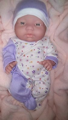 "13"" BERENGUER 32cm New Born Baby Doll Vinyl Body Blue Eyes excellent condition"