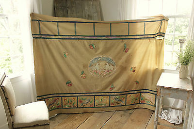 Antique / vintage Theatrical backdrop hand painted theater / stage cloth