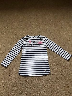 Girl's striped Long sleeved shirt, Junior J, age 4-5 years