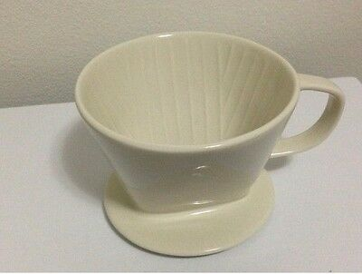 Ivory 3 holes 102 Ceramic Dripper Barista Coffee Maker Bowl Cup Filter Pour Over