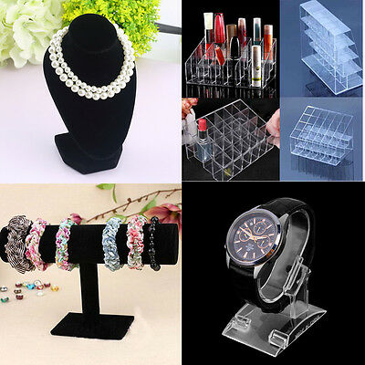4type Mannequin Necklace Jewelry Pendant Display Stand Holder Show Decorate CP