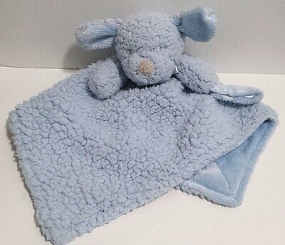 Blankets and Beyond Blue Puppy Dog Baby Berber Security Blanket Lovey Soft