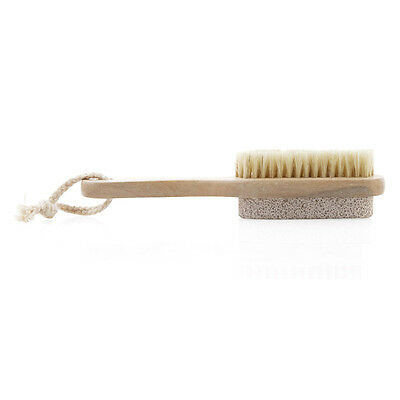 Natural wild boar brush shower brush pumice foot bath wood color J8A5