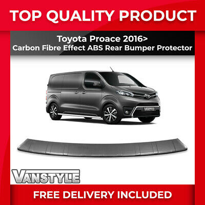 Toyota Proace & Proace Verso 2016> Rear Bumper Protector Abs Carbon Protection