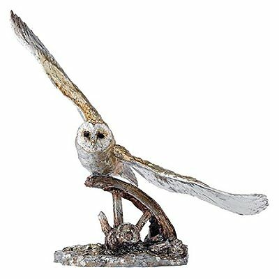 Border Fine Arts Contemporary Classics Barn Owl in Flight Silvered Effect LD219