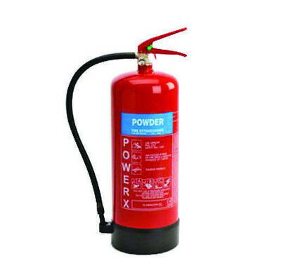 New Premium 9kg Powder Fire Extinguisher - For Class A,B,C and Electrical Fires