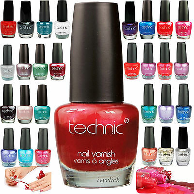 Technic Nail Polish Varnish Paint Brights Pastel Colours Party Glitter Nails Tip
