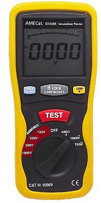 AMECaL ST-5505 Insulation Tester Equiv: Continuity / Low Ohms / Megohm Meter