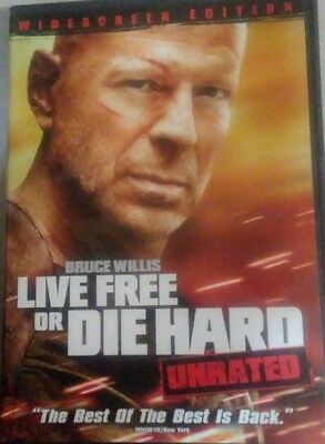 Die Hard 4: Live Free or Die Hard (DVD, 2007, Unrated; Widescreen; Single-Disc V