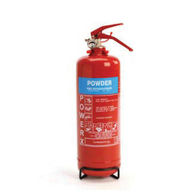 New Premium 1kg Powder Fire Extinguisher - For Class A,B,C and Electrical Fires