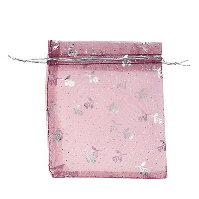 100 Mixed Organza Gift Bags Jewellery Pouch 13cm X 10cm  WW