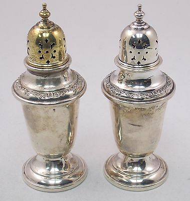 Gorham Buttercup 978 Sterling Silver Salt & Pepper Shakers Set (#4755)