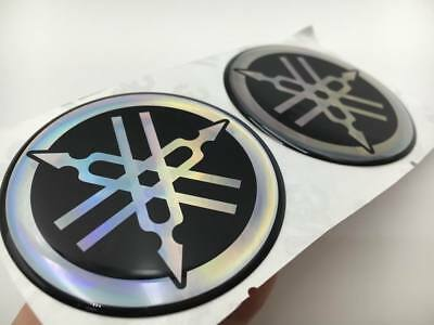 45mm 3D Fuel Tank Fork Emblem Decal Stickers For Yamaha Motorcycle Badge Custom