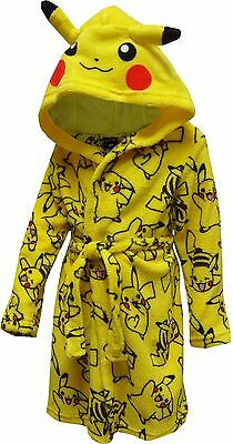 NWT $38 Anime Pokemon Fleece Bathrobe Warm Pikachu Robe Kids Boy Girl Size 6