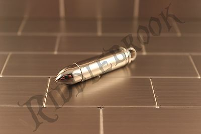 Stainless Steel Stash bullet pendant pill box ammo necklace security hidden