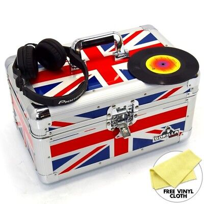 "Gorilla 7"" Singles Vinyl Record Carry Case Storage Box (Union Jack)"