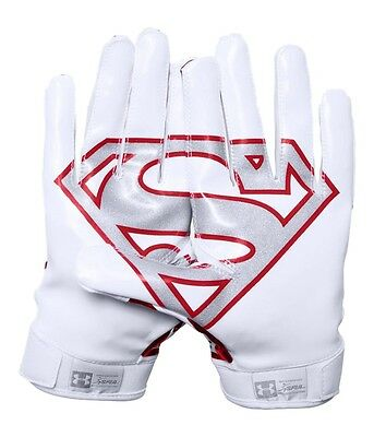 Under Armour Men's UA Alter Ego Superman F5 Football Receiver Gloves - NWT