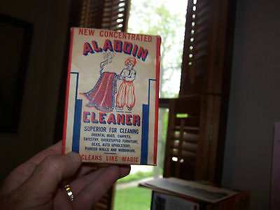 Antique 1940's Unopened Box Of Aladin Concentrated Cleaner