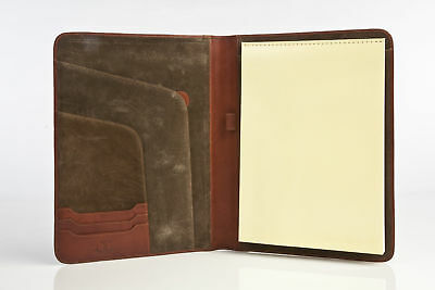 Leather Portfolio Writing Pad Case A4 Letter Italian Leather by Tony Perotti