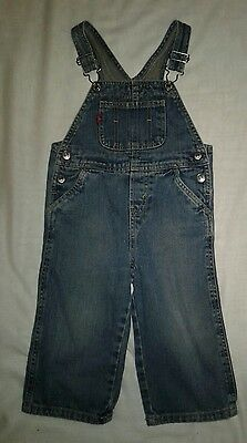 Infant Baby Boy Levis Blue Jean Overalls 24 Months