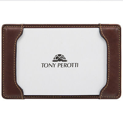 Tony Perotti Italian Leather Pocket Notepad Memo Writing Jotter