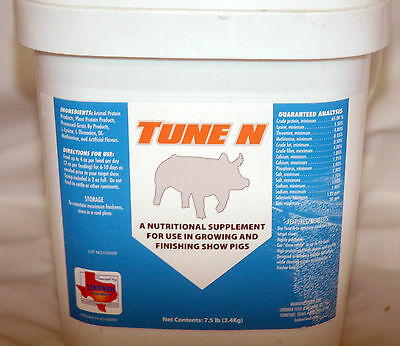 Lindner Feed TUNE N 61122 Supplement for Show Pigs 7.5 lbs Product 42160000