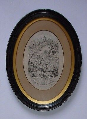 19th century engraving GEORGE CRUIKSHANK ' A Reverie The Triumph of Cupid'