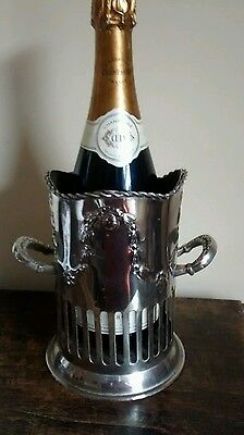 handsome vintage silver plated wine bottle holder wine coaster