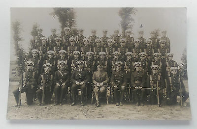 WW1 Real Photo Postcard Royal Marines RM Group in Blues and Webbing Rifles