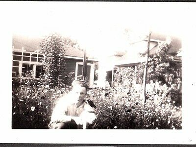 Vintage Photograph 1920's-1930's Boston Terrier Dog Baraboo Wisconsin Old Photo
