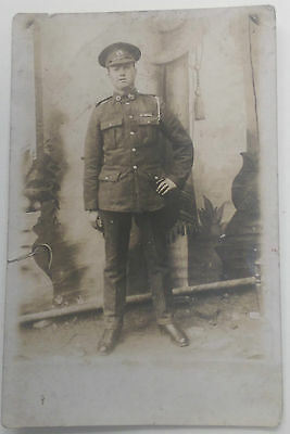 WW1 Real Photo Postcard Royal Marine Light Infantry RMLI with Medal Ribbons