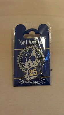 PIN CAST MEMBER EXCLUSIVE DISNEYLAND PARIS 25eme ANNIVERSAIRE