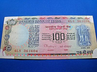 INDIA 1979 100 RUPEES BANKNOTE  #2 (mr)