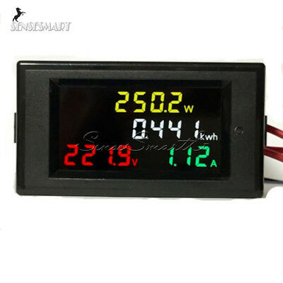 AC 200-450V 100A LCD Digital Voltmeter Ammeter electric energy Power Panel Meter