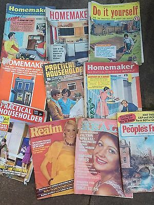 Job Lot Vintage Household Magazines X 10  From 1960`s,1970`s And 1980