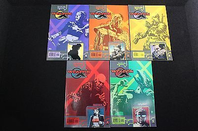 WEAPON X: THE DRAFT #1, All Five Covers; (2002) Marvel Comics; Complete Set