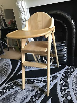 East Coast Folding Wood Baby Highchair Feeding Chair