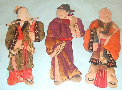 Antique Chinese Silk Puppet Figures.