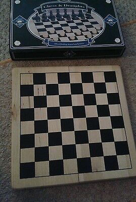 Solid wooden folding chess board in tin