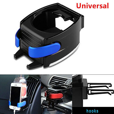 2in1 Universal Car Air Vent Phone Mount Holder + Drink Water Bottle Cup Holder