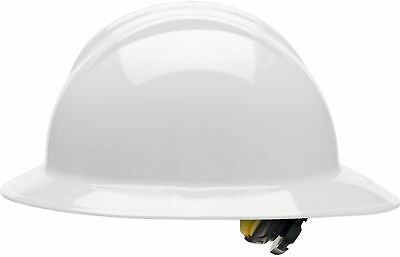 Bullard Full Brim Hard Hat with 6 Point Ratchet Suspension, White