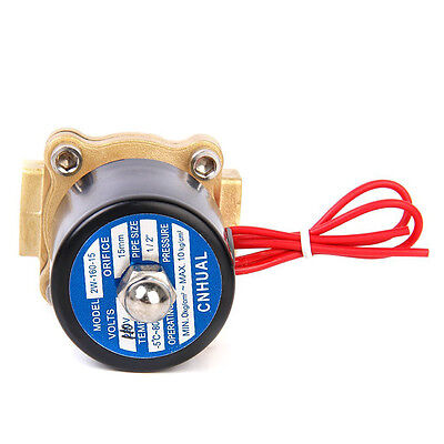 """AC 110V Electric Solenoid Valve Water Air 1/2"""" Brass Normal Closed"""
