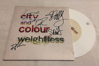 City and Colour Weightless Vinyl Signed 7in White Dallas Green Alexisonfire