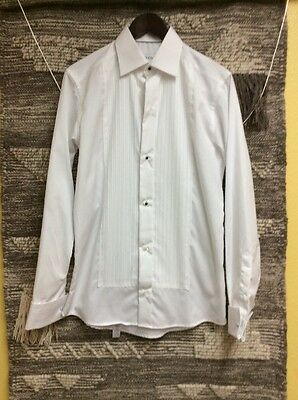Eton Men's Slim Fit Tuxedo Shirt Color White Size 15/38