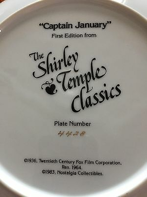 Shirley Temple's Captain January Collector Plate and Statue