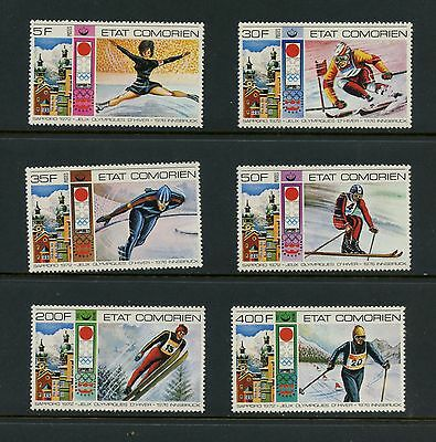 Comoro Islands 1976  #174-9  olympics skiing skating  6v. MNH K047