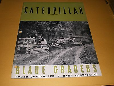 Old Caterpillar Tractor Blade Graders 32 pg. Advertising Booklet Brochure