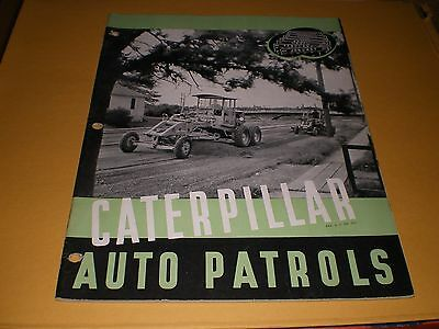 Old Caterpillar Tractor Auto Patrols 40 pg. Advertising Booklet Brochure