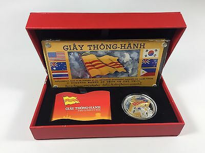 2010 Giay Thong-Hanh Safe Conduct Pass And 1Oz Silver Proof Coin Gold Gilded