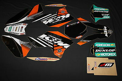 Ktm  Sx Sxf Exc  Factory Mx Graphics Kit Decals Kit Stickers
